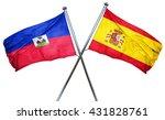 haiti flag with spain flag  3d...   Shutterstock . vector #431828761
