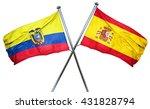 ecuador flag with spain flag ... | Shutterstock . vector #431828794