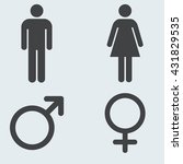 male and female toilet sign.... | Shutterstock .eps vector #431829535