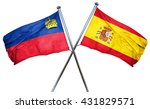 liechtenstein flag with spain...   Shutterstock . vector #431829571