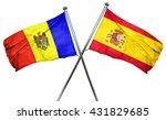 moldova flag with spain flag ...   Shutterstock . vector #431829685