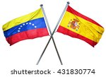 venezuela flag with spain flag  ... | Shutterstock . vector #431830774
