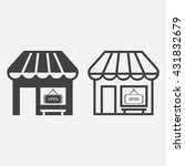 cafe line icon  market outline...
