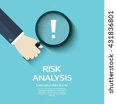 risk analysis vector... | Shutterstock .eps vector #431836801
