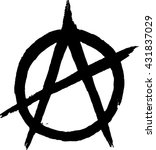 anarchy sign. vector image | Shutterstock .eps vector #431837029