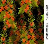 imprints meadow flower....   Shutterstock . vector #431837305