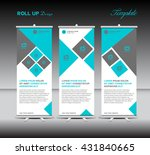blue roll up banner template... | Shutterstock .eps vector #431840665