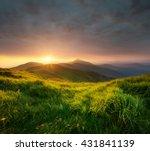 mountain valley during sunrise. ... | Shutterstock . vector #431841139