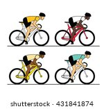 low angle view of cyclist... | Shutterstock .eps vector #431841874