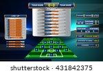 set of scoreboard design object ...   Shutterstock .eps vector #431842375