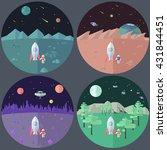 set of four illustrations of... | Shutterstock .eps vector #431844451