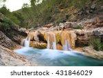 Waterfall At Sierra De Cazorla...