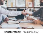 sealing a deal. side view close ... | Shutterstock . vector #431848417
