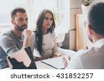 listening to financial advisor. ... | Shutterstock . vector #431852257