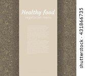 healthy food. vector background ...   Shutterstock .eps vector #431866735