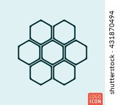 honeycomb icon. honeycomb... | Shutterstock .eps vector #431870494