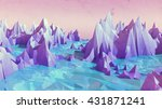 3d illustration of a low poly... | Shutterstock . vector #431871241