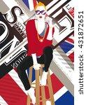 fashion teenage girl. vector...   Shutterstock .eps vector #431872651