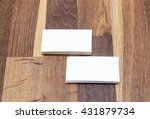 blank business cards on a... | Shutterstock . vector #431879734