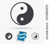 ying yang sign icon. harmony... | Shutterstock .eps vector #431883451