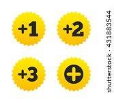 plus icons. positive symbol.... | Shutterstock .eps vector #431883544