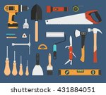 working tools set  | Shutterstock .eps vector #431884051