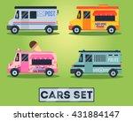 flat cars set    Shutterstock .eps vector #431884147