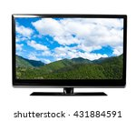 tv screen with landscape | Shutterstock . vector #431884591