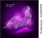 cock. symbol of the year 2017. | Shutterstock .eps vector #431890909
