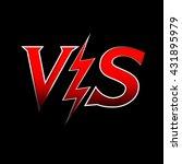 versus letters or vs logo... | Shutterstock .eps vector #431895979
