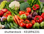 composition with assorted raw... | Shutterstock . vector #431896231