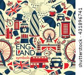 vector london illustration with ... | Shutterstock .eps vector #431896741