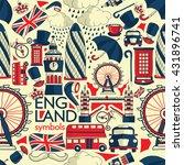vector london illustration with ... | Shutterstock .eps vector #431896741
