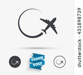airplane sign icon. travel trip ... | Shutterstock .eps vector #431898739