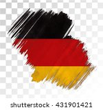 germany flag grunge stain | Shutterstock .eps vector #431901421