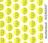 lemon pattern on white... | Shutterstock .eps vector #431903347