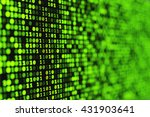 abstract green binary digital... | Shutterstock . vector #431903641
