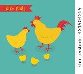 cartoon chicken family  vector... | Shutterstock .eps vector #431904259