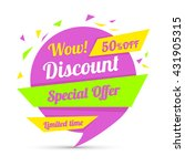 discount sticker. special offer ... | Shutterstock .eps vector #431905315