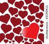 vector hearts | Shutterstock .eps vector #43190911