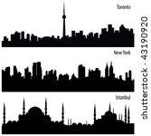 vector cityscape collection | Shutterstock .eps vector #43190920