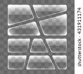 transparent glass plates set on ... | Shutterstock .eps vector #431911174