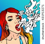 bright pop art style attractive ... | Shutterstock .eps vector #431913271