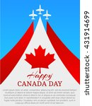 happy canada day poster. canada ... | Shutterstock .eps vector #431914699