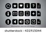 icon set in minimalistic style. ...