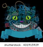 design of cheshire cat on... | Shutterstock .eps vector #431915929