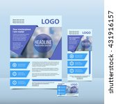 blue annual report with the... | Shutterstock .eps vector #431916157