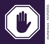 stop sign   vector illustration | Shutterstock .eps vector #431920531