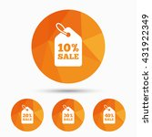 sale price tag icons. discount... | Shutterstock .eps vector #431922349