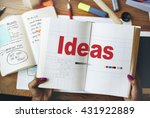 ideas thinking creative mission ... | Shutterstock . vector #431922889